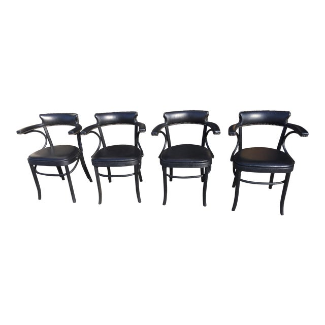 4 Restortation Hardware Dining Chairs Vienna Cafe For Sale