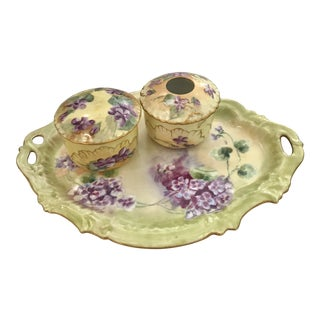 Limoges Vanity Set - 3 Pieces For Sale
