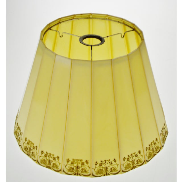 Mid Century Emeloid Lampshade Condition consistent with age and history. Please use zoom feature to check item condition,...