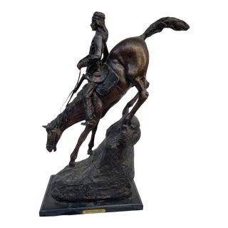 Frederick Remington Mountain Man Bronze Sculpture For Sale