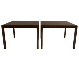 Pair of Edward Wormley for Dunbar Parsons Tables in Dark Mahogany For Sale