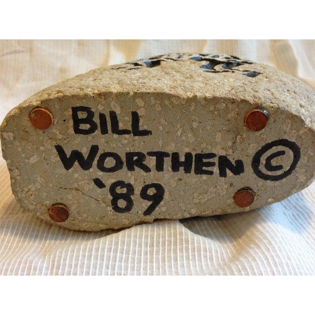 Southwestern Cat Motif Stone Vase by Bill Worthen - Image 8 of 8
