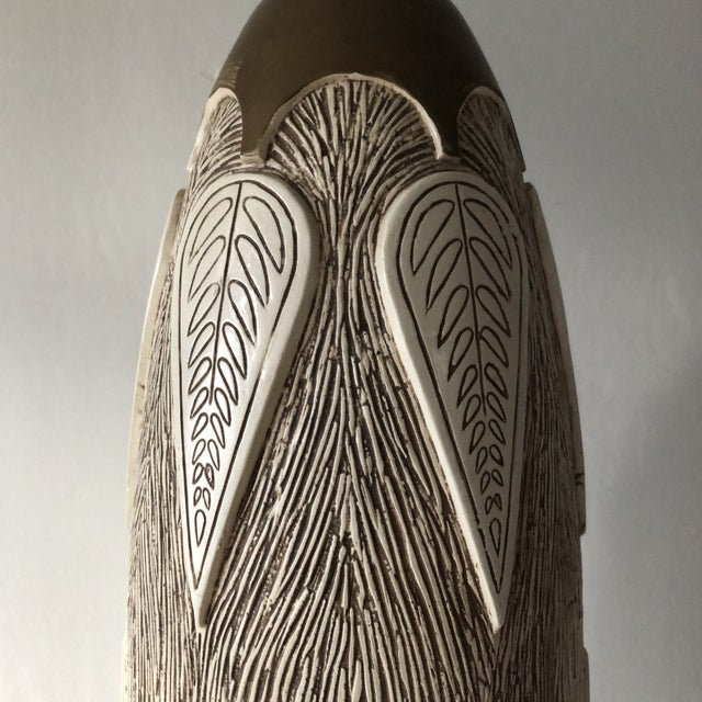 1950s Mid Century Modern Hollywood Regency Monumental Ceramic Table Lamp For Sale - Image 5 of 9