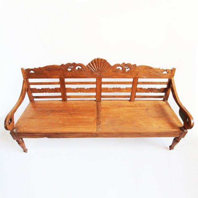 Balinese Teak Bench - Image 3 of 3