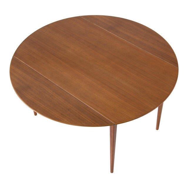 Drop-Leaf Dux Dining Table - Image 1 of 8