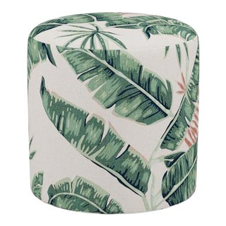Drum Ottoman in Banana Palm For Sale