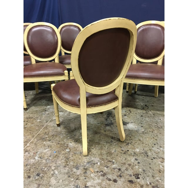 Wood Baker Oval Back Side Chairs - Set of 10 For Sale - Image 7 of 12