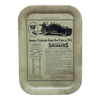 """The Saturday Evening Post"" Metal Serving Tray Circa 1970 For Sale"