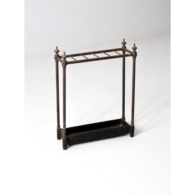Black Antique Fireplace or Umbrella Stand For Sale - Image 8 of 10