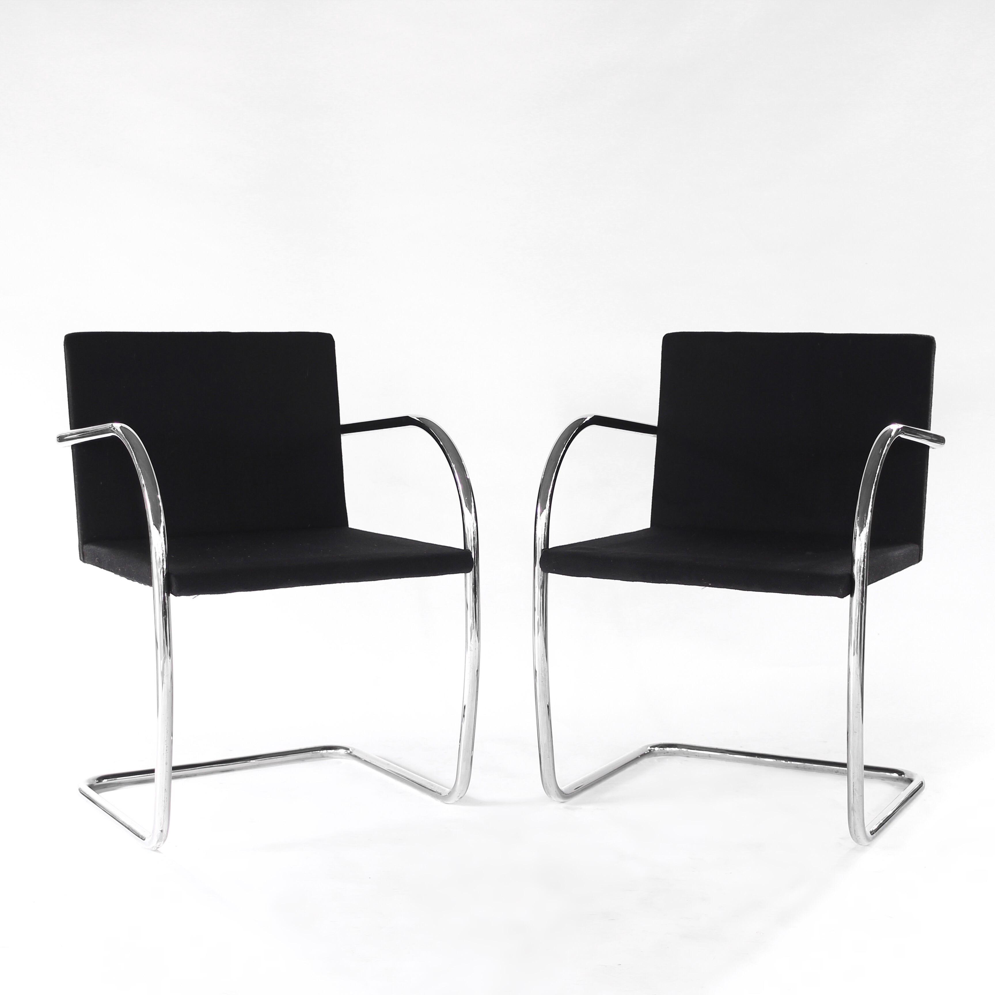 Presenting This Lovely Pair Of Brno Chairs By Mies Van Der Rohe For Knoll.  Bring