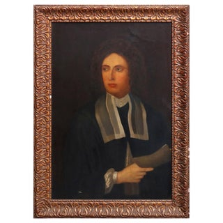 Antique English Framed Oil on Canvas Portrait Painting of Statesman 19th Century For Sale