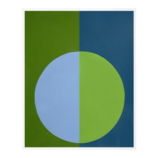 """Green & Blue Forever"" Small White Framed Print by Stephanie Henderson For Sale"
