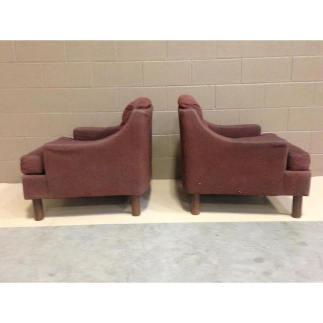 Selig Low Lounge Chairs - A Pair - Image 5 of 7