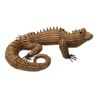 Vintage Mario Lopez Torres Woven Iguana Figurine For Sale
