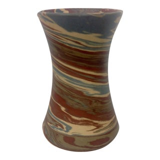 Niloak Mission Swirl Corseted Vase For Sale