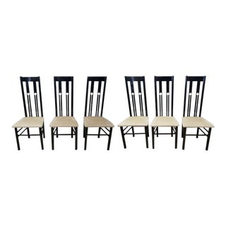 Charles Rennie Mackintosh Style Chairs - Set of 6 For Sale
