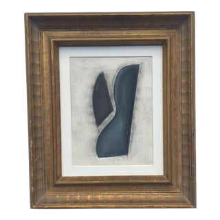 Abstract Painting in a Vintage Frame For Sale