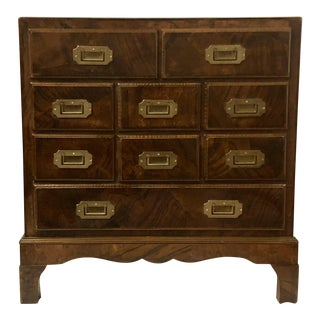 Burlwood Campaign Style Chest For Sale