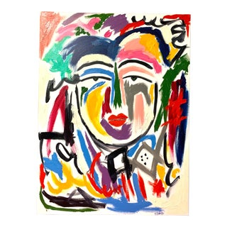 "Modern ""Ming"" Abstract Face Painting For Sale"