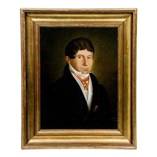 19th Century Belgian Count Oil Portrait For Sale