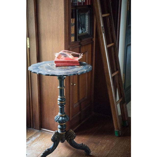 Pair of Chinoiserie Swedish Tilt-Top Tables For Sale - Image 11 of 11