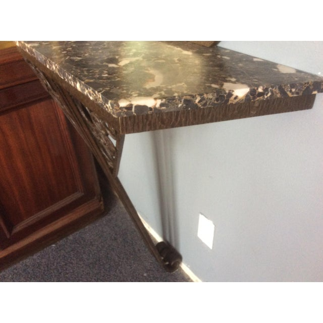 Wrought Iron Console Table and Mirror Set For Sale - Image 9 of 11