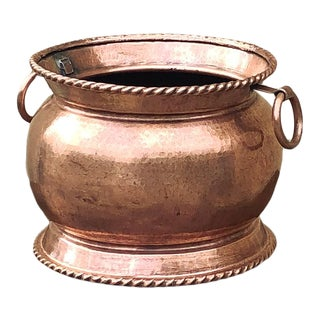 19th Century Copper & Brass Hand-Made Jardiniere For Sale