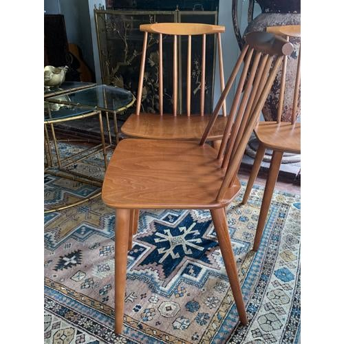 Folke Palsson for Fdb Mobler Mid Century Model J77 Chairs Circa 1970's For Sale In New York - Image 6 of 11