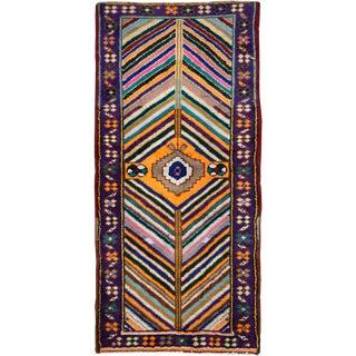 "Vintage Persian Hamadan Rug – Size: 1' 10"" X 4"" For Sale"