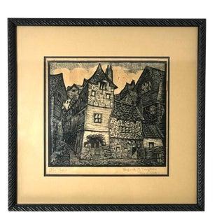 1928 Old Paris Woodcut