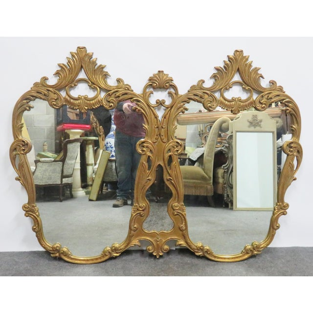 Italian Rococo Carved Gold Gilt Overmantle Mirror For Sale In Philadelphia - Image 6 of 6