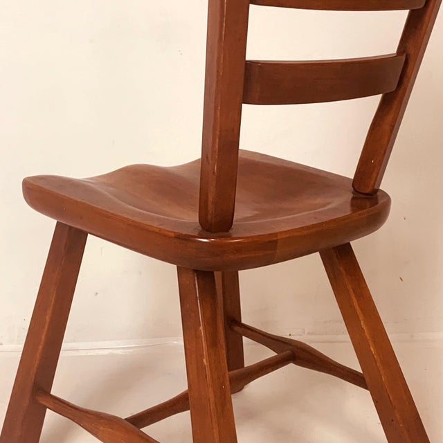 Cushman of Vermont Set of 6 Cushman Vermont Rock Maple Dining Chairs Designed by Herman DeVries For Sale - Image 4 of 13