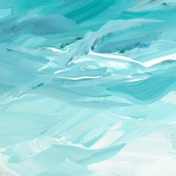 Teodora Guererra Teodora Guererra, 'Emerald Waves' Painting, 2018 For Sale - Image 4 of 5
