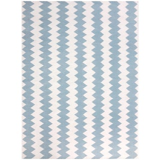 Zara Chevron Ivory Flat-Weave Rug 5'x8' For Sale