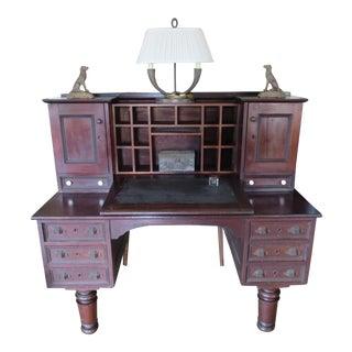 Antique Railroad Style Desk For Sale