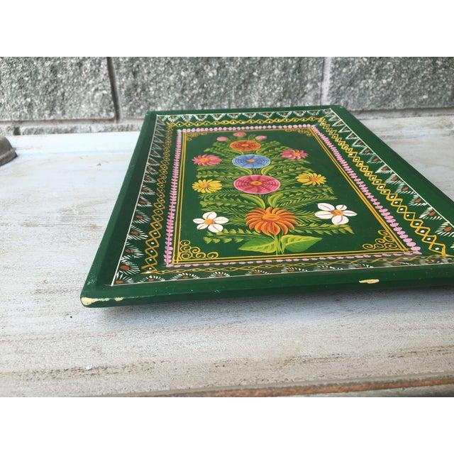 Antique Hand-Painted Spanish Folk Art Tray - Image 6 of 11
