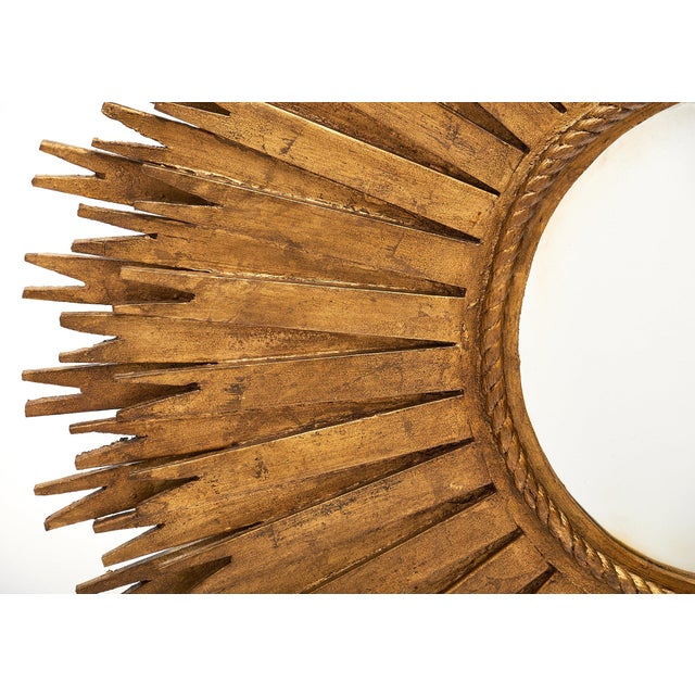 1960s Large Sunburst Mirrors - a Pair For Sale - Image 4 of 10