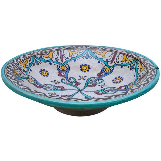 Ceramic Antique Ceramic Bowl W/ Andalusian Motif For Sale - Image 7 of 9