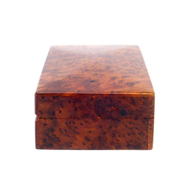Decorative Juniper Burl Wood Box - Image 5 of 7