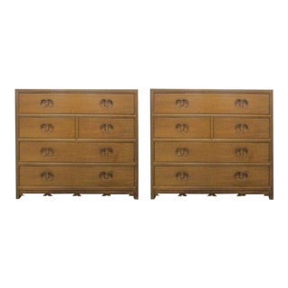 Pair of Baker Furn Co. Bachelors Chests from New World Collection