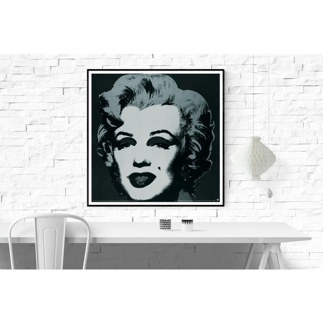 Modern Andy Warhol-Marilyn Black #24-1989 Poster For Sale - Image 3 of 4