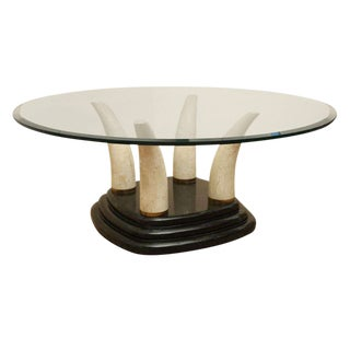 Tessellated Stone Tusk Cocktail Table For Sale