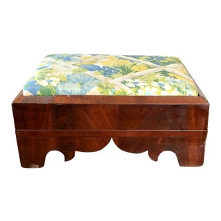 Antique Empire Mahogany Footstool For Sale