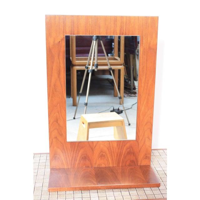 American Modern Walnut Mirror - Image 3 of 7