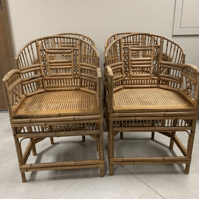 1970s Vintage Brighton Style Chinese Chippendale Arm Dining Chairs - Set of 4 For Sale - Image 4 of 11