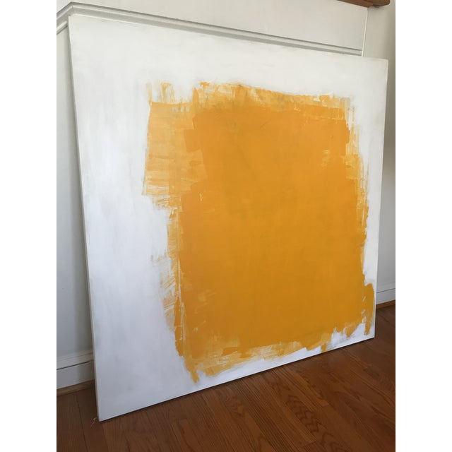 "Abstract Sarah Trundle ""Yellow"" Contemporary Abstract Painting For Sale - Image 3 of 5"