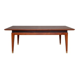 1940s Vintage Mid-Century Modern Burl Walnut Coffee Table For Sale