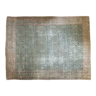 "Vintage Distressed Mahal Carpet - 11' X 14'6"""