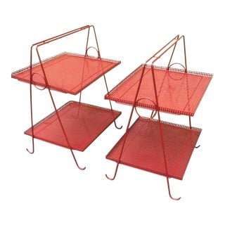 Pair of Two Tiers Side Tables For Sale