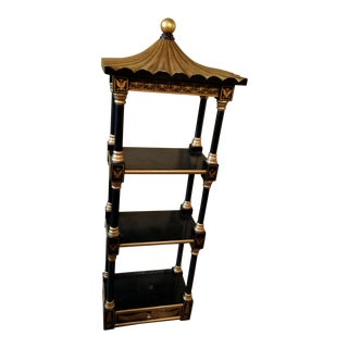Last Call Black & Gold Asian Shelving Unit